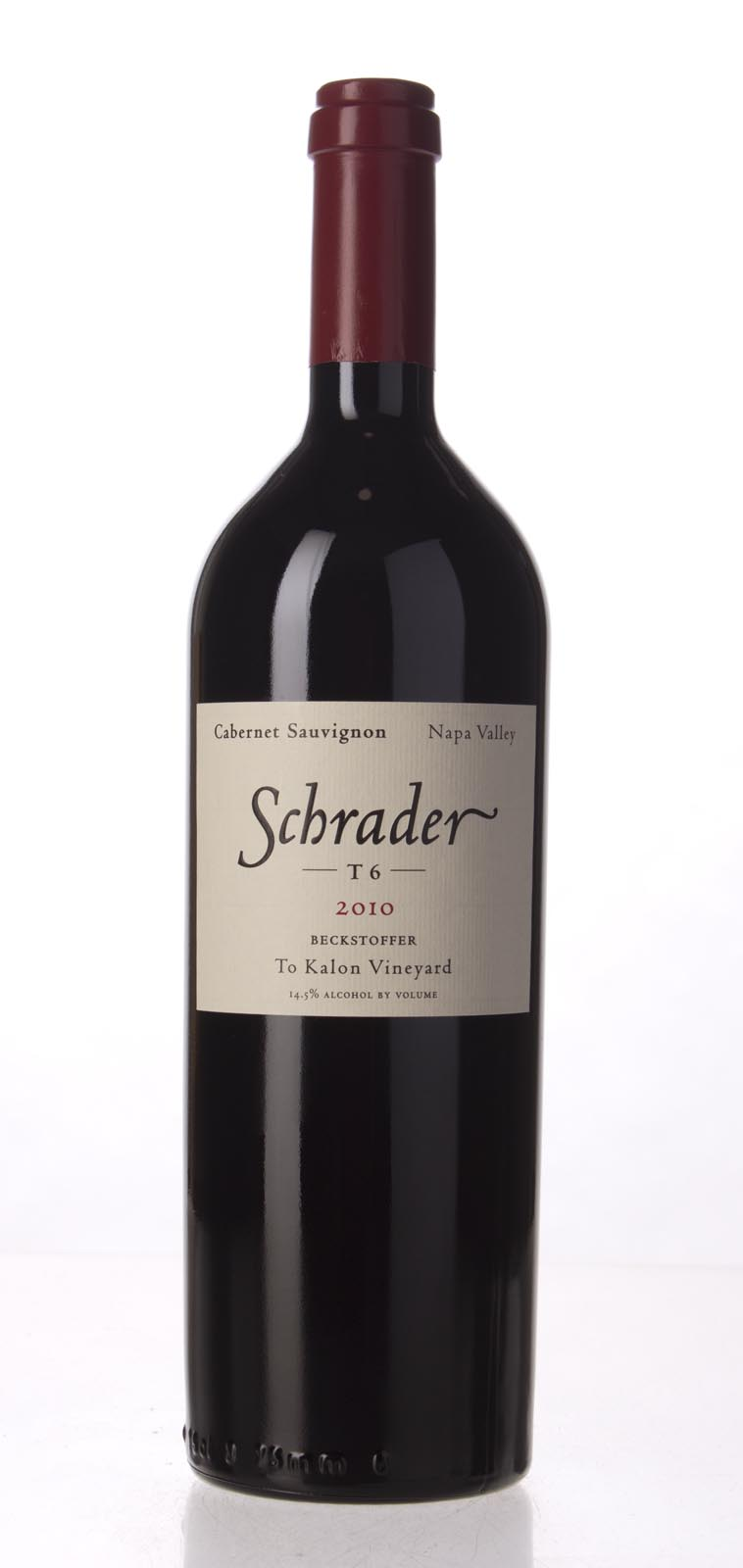 Schrader Cellars Cabernet Sauvignon Beckstoffer To Kalon Vineyard T6 2010, 750mL (WS96) from The BPW - Merchants of rare and fine wines.