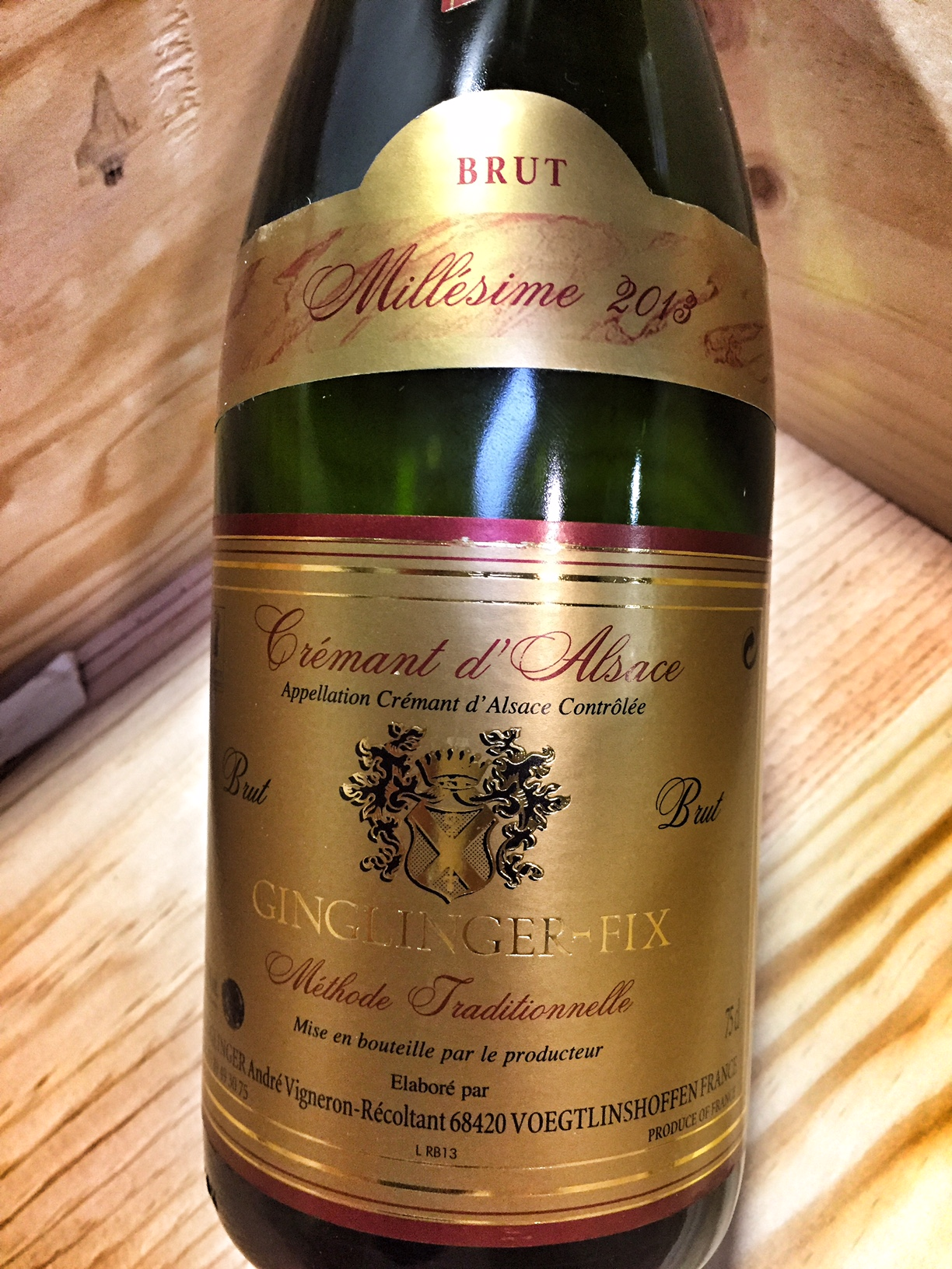 Ginglinger Fix Cremant d`Alsace Brut 2013, 750ml () from The BPW - Merchants of rare and fine wines.