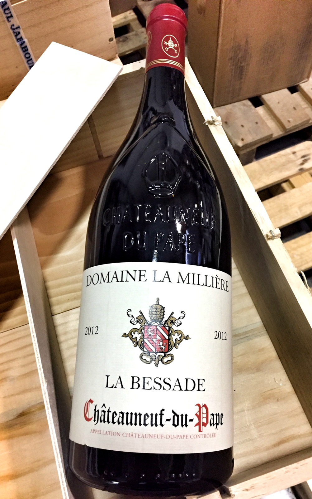Domaine de la Milliere Chateauneuf du Pape La Bessade 2012, 1.5L (WA93, VN92) from The BPW - Merchants of rare and fine wines.