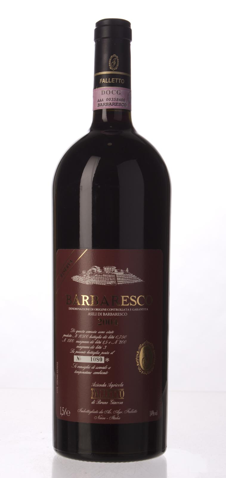 Bruno Giacosa Barbaresco Asili Riserva Red Label 2004, 1.5L (WA98, ST96+, WS96) from The BPW - Merchants of rare and fine wines.