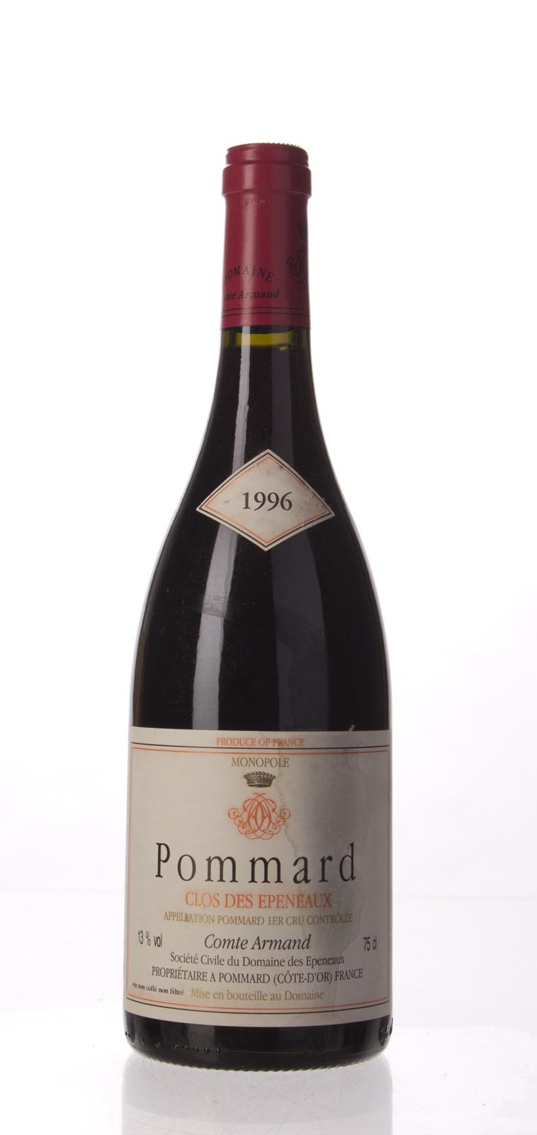 Comte Armand Pommard Clos des Epeneaux 1996, 750mL (WS97) from The BPW - Merchants of rare and fine wines.