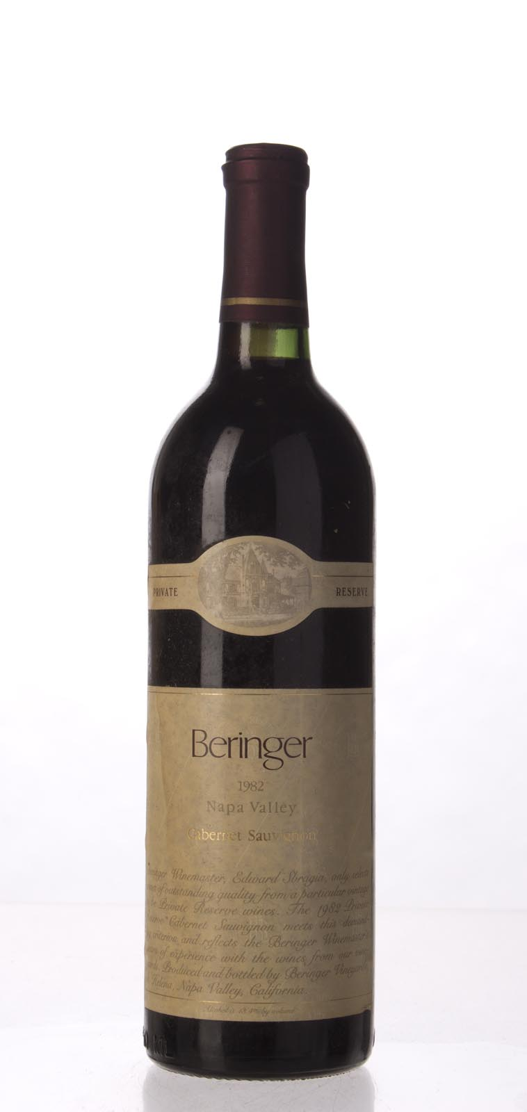 Beringer Cabernet Sauvignon Private Reserve 1982, 750mL (WS94) from The BPW - Merchants of rare and fine wines.