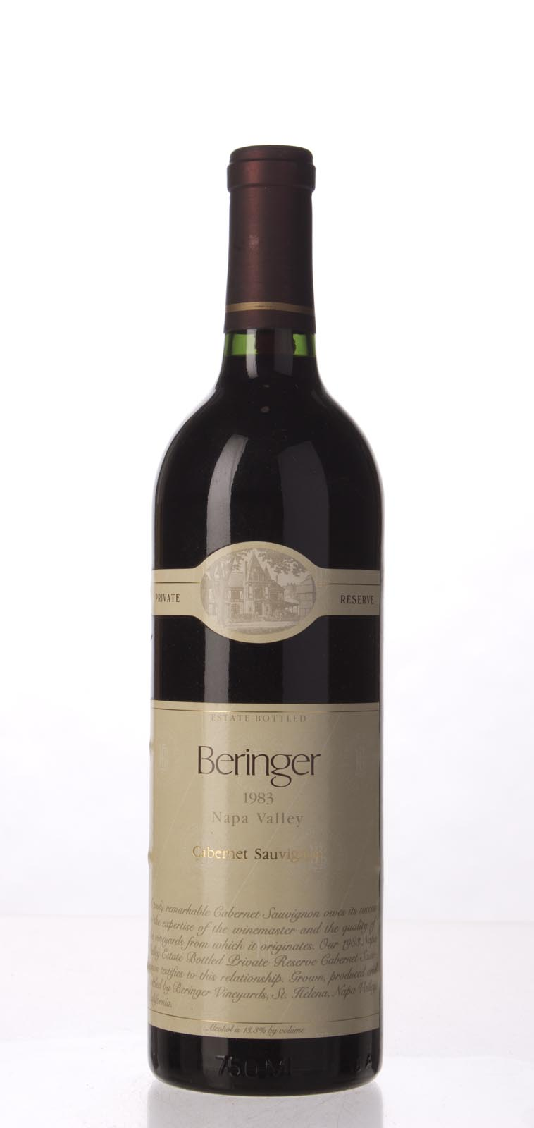 Beringer Cabernet Sauvignon Private Reserve 1983, 750mL () from The BPW - Merchants of rare and fine wines.