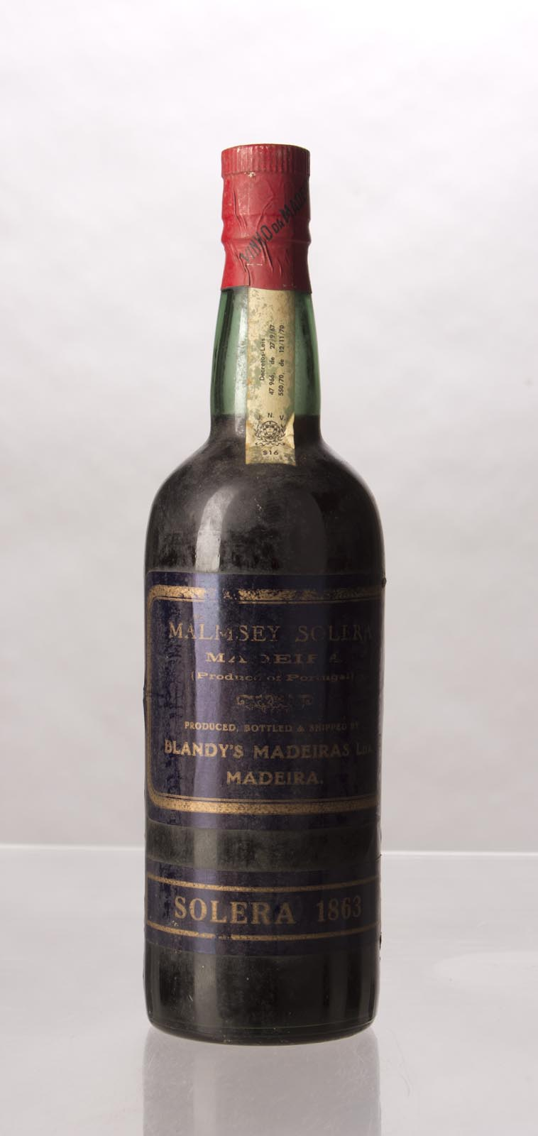 Blandy`s Malmsey Solera 1863, 750mL () from The BPW - Merchants of rare and fine wines.