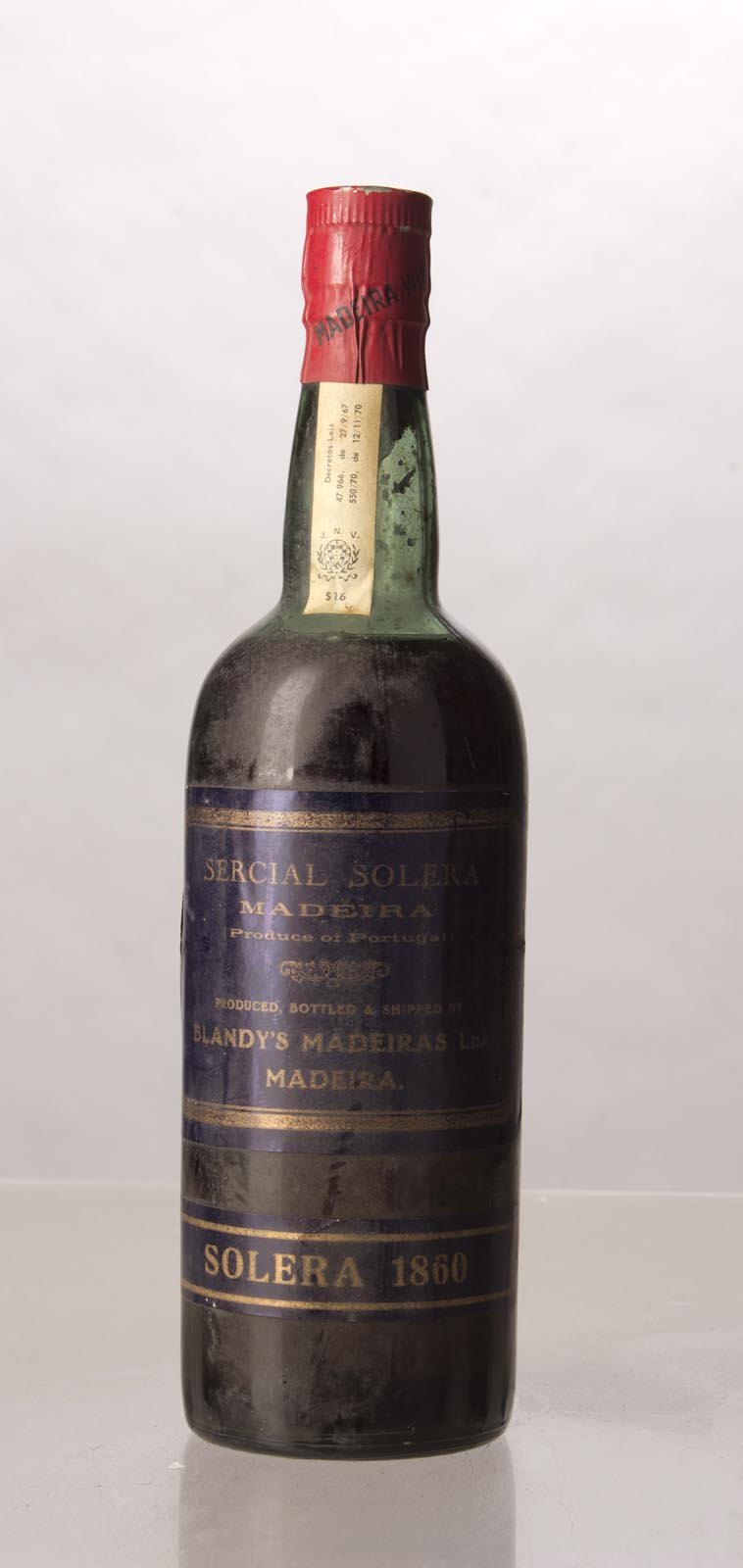 Blandy`s Sercial Solera 1860, 750mL () from The BPW - Merchants of rare and fine wines.