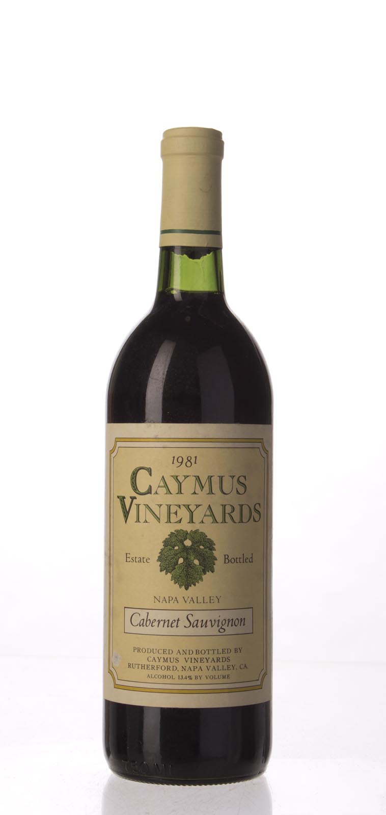 Caymus Cabernet Sauvignon Napa Valley 1981, 750mL (WS93) from The BPW - Merchants of rare and fine wines.