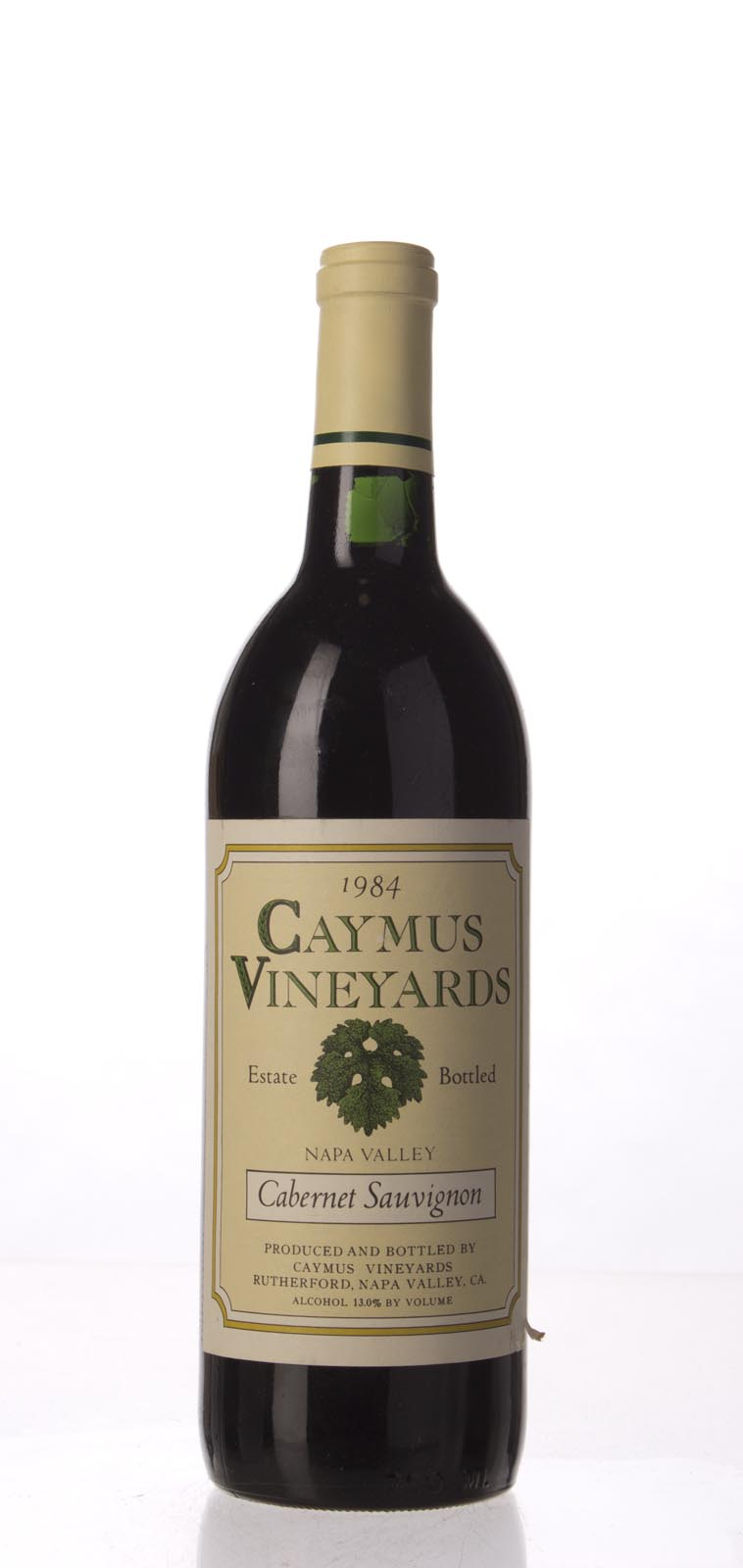 Caymus Cabernet Sauvignon Napa Valley 1984, 750mL (WA90) from The BPW - Merchants of rare and fine wines.