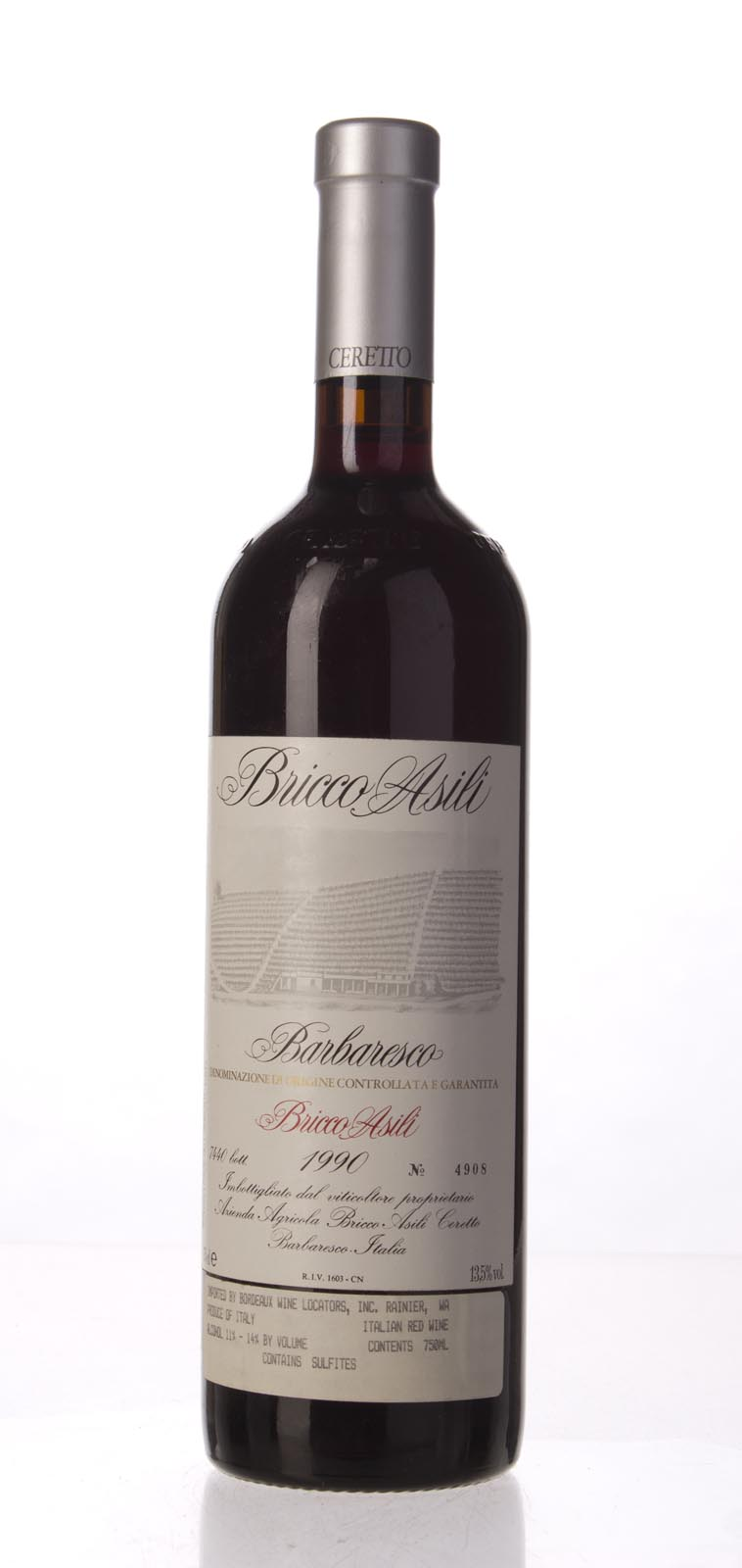 Ceretto Barbaresco Bricco Asili 1990, 750mL (WA95) from The BPW - Merchants of rare and fine wines.