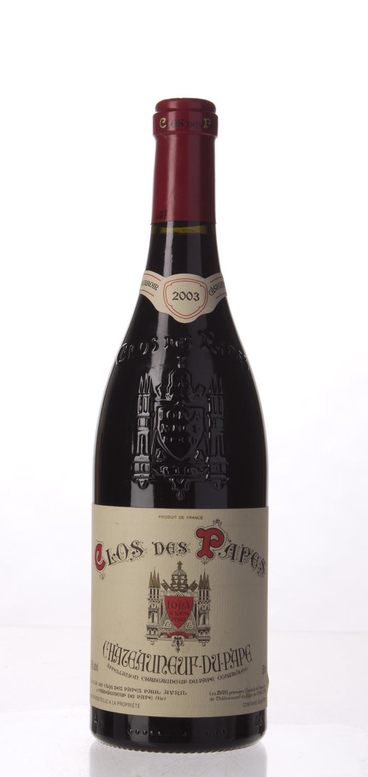 Clos des Papes Chateauneuf du Pape 2003, 750mL (WA98, WS97) from The BPW - Merchants of rare and fine wines.