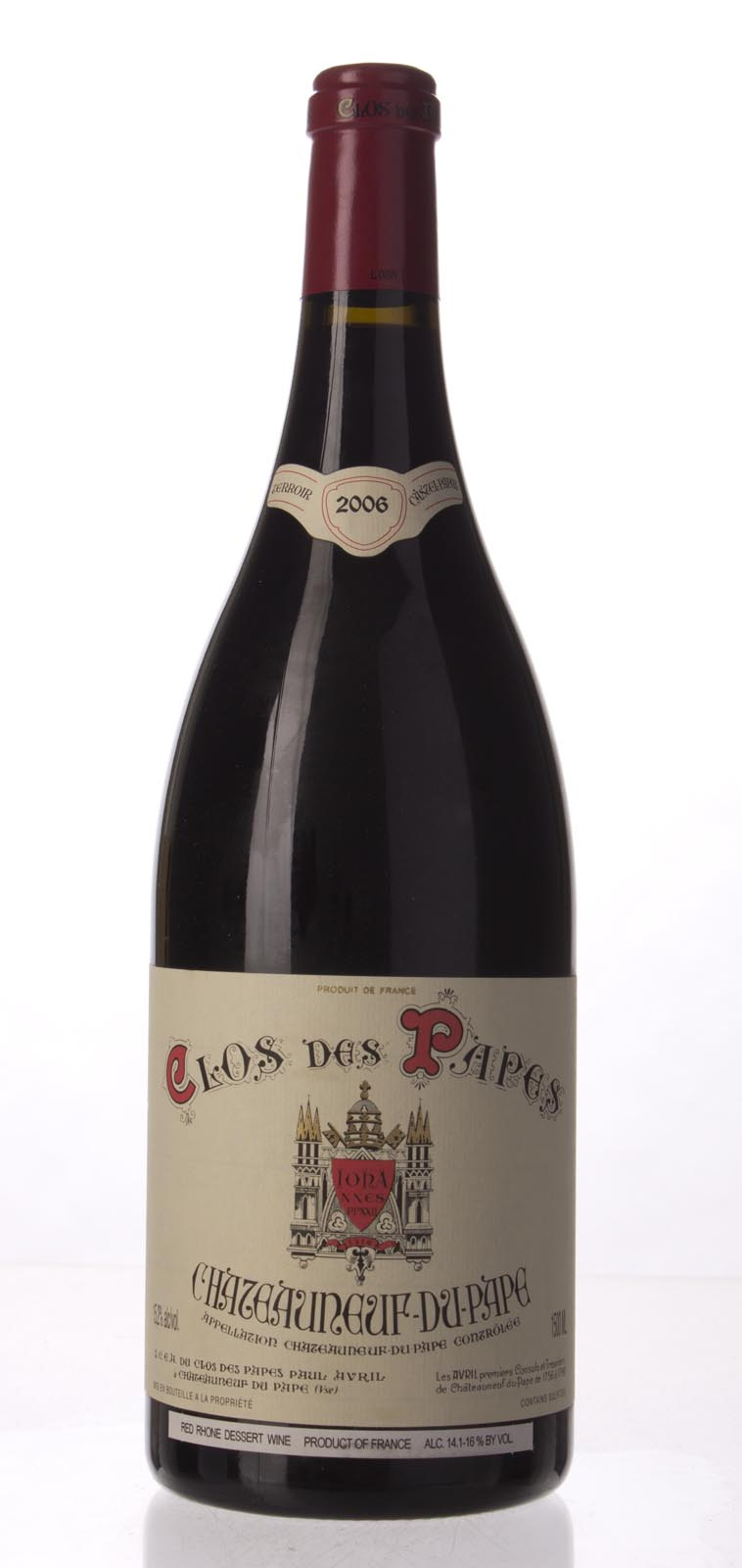 Clos des Papes Chateauneuf du Pape 2006, 1.5L (WA98) from The BPW - Merchants of rare and fine wines.