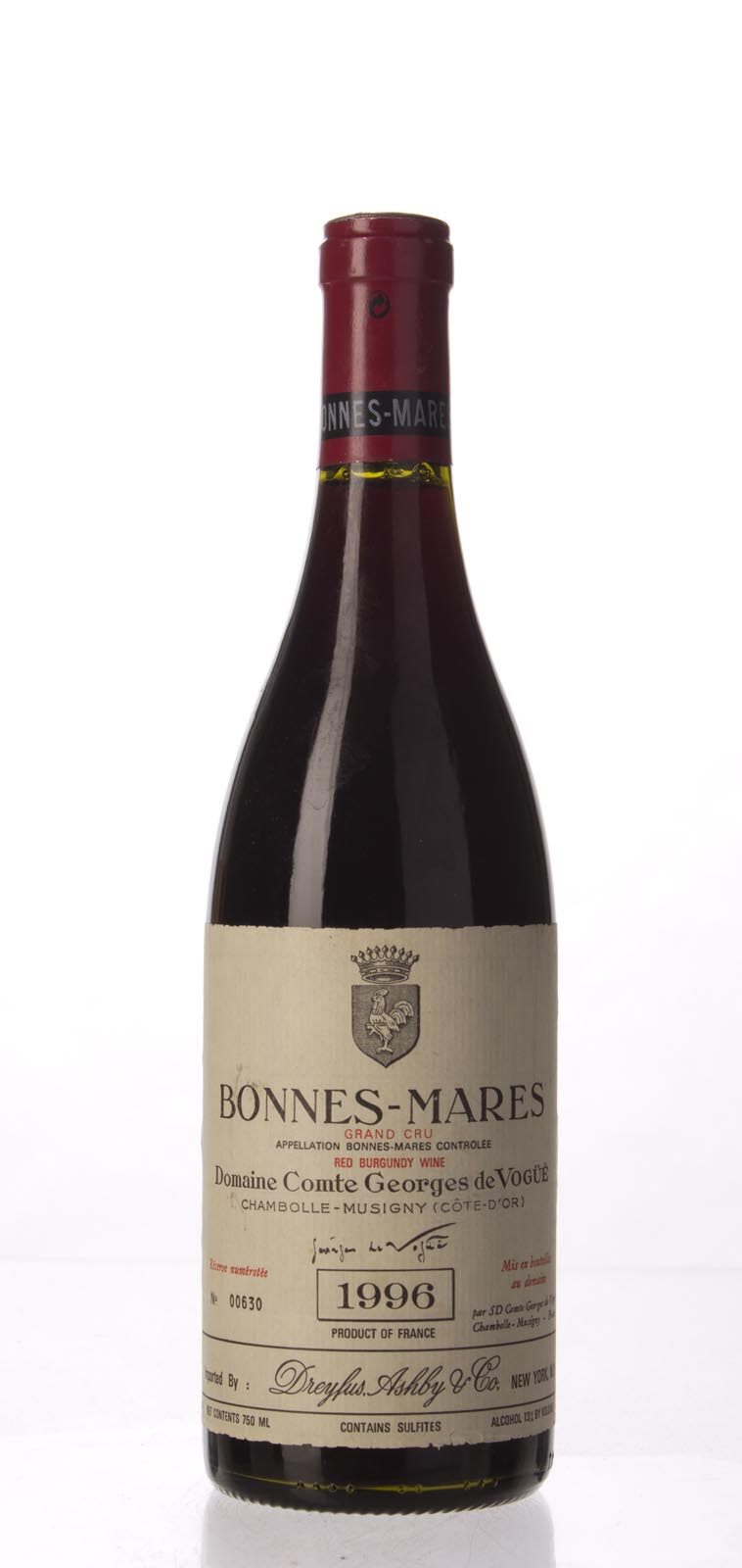 Comte de Vogue Bonnes Mares 1996, 750mL (WA92-95, ST93) from The BPW - Merchants of rare and fine wines.