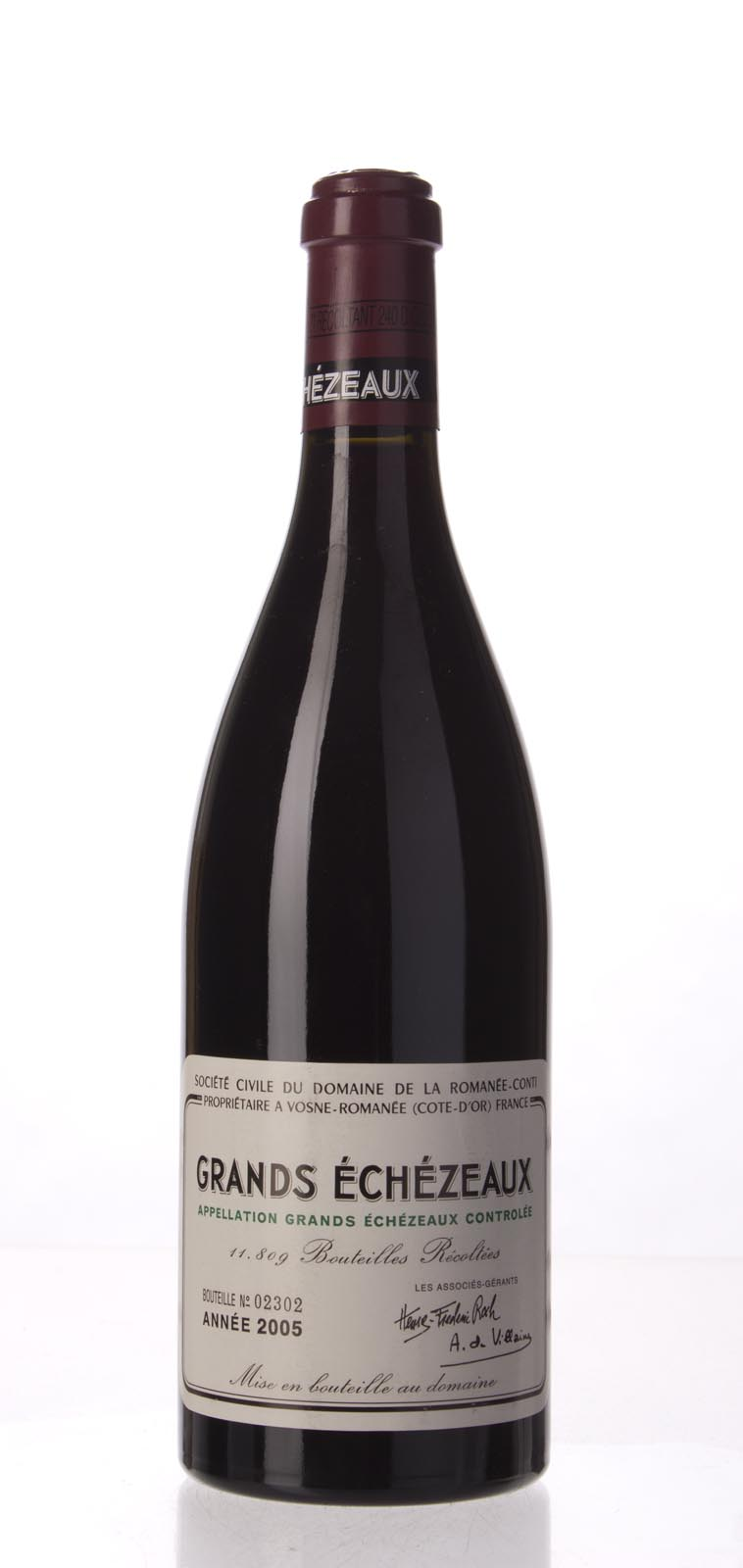 Domaine de La Romanee Conti Grands Echezeaux 2005, 750mL (BH96, WA95-96) from The BPW - Merchants of rare and fine wines.