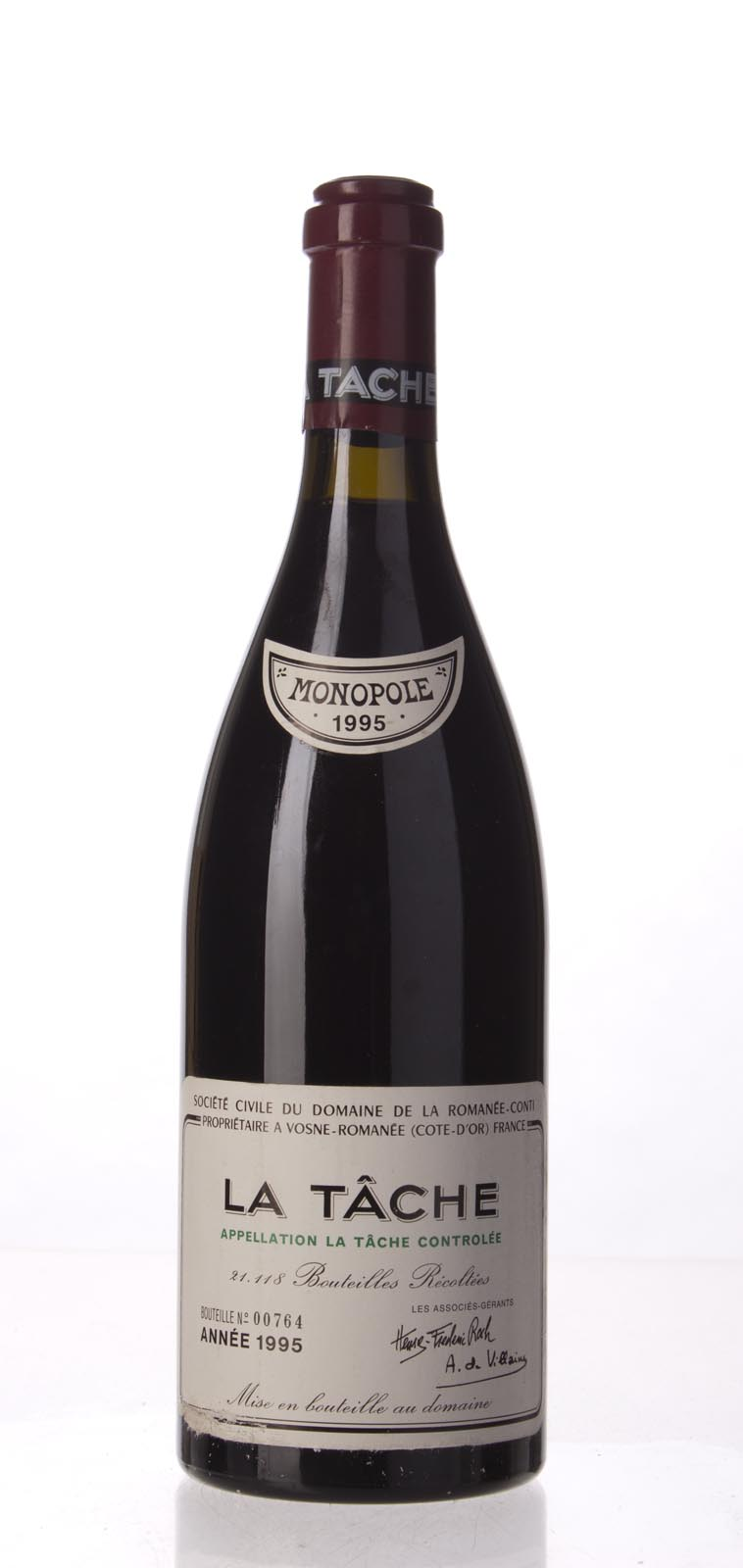 Domaine de La Romanee Conti la Tache 1995, 750mL (WA95, ST95, WS95) from The BPW - Merchants of rare and fine wines.