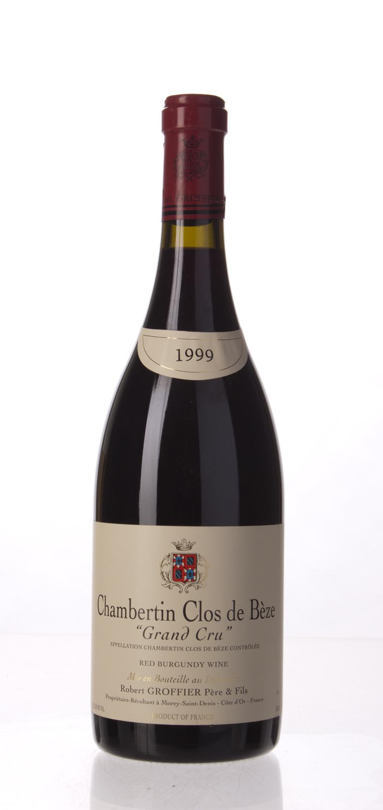 Domaine Robert Groffier Chambertin Clos de Beze 1999, 750mL (WA95, ST94) from The BPW - Merchants of rare and fine wines.