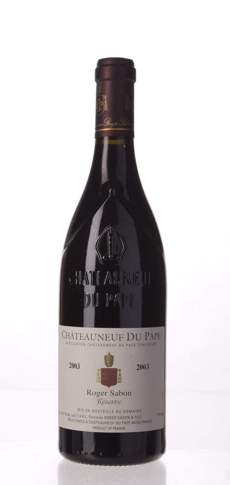 Domaine Roger Sabon Chateauneuf du Pape Cuvee Reservee 2003, 750mL (WS93) from The BPW - Merchants of rare and fine wines.