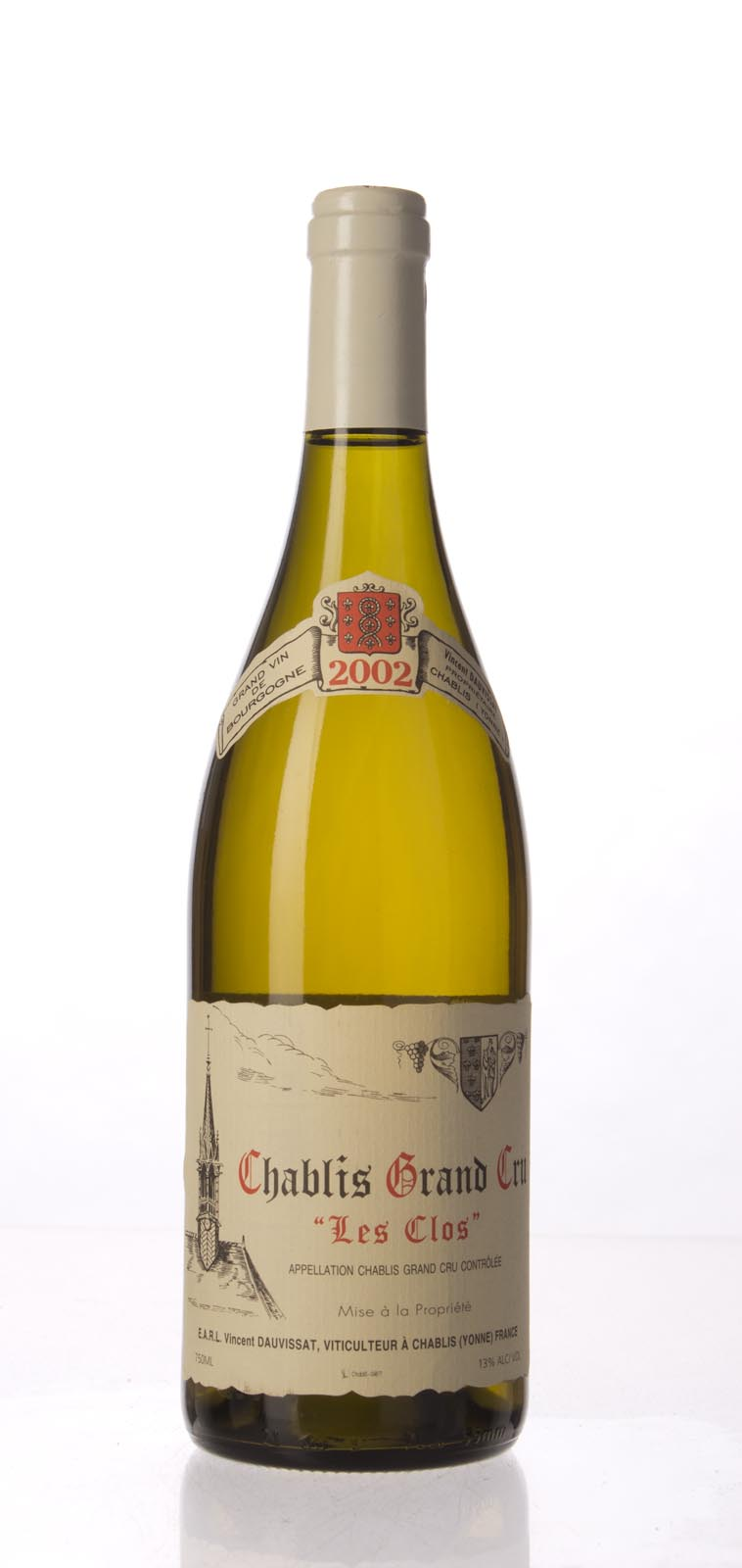 Domaine Vincent Dauvissat Chablis les Clos 2002, 750mL (WA95, ST94+) from The BPW - Merchants of rare and fine wines.