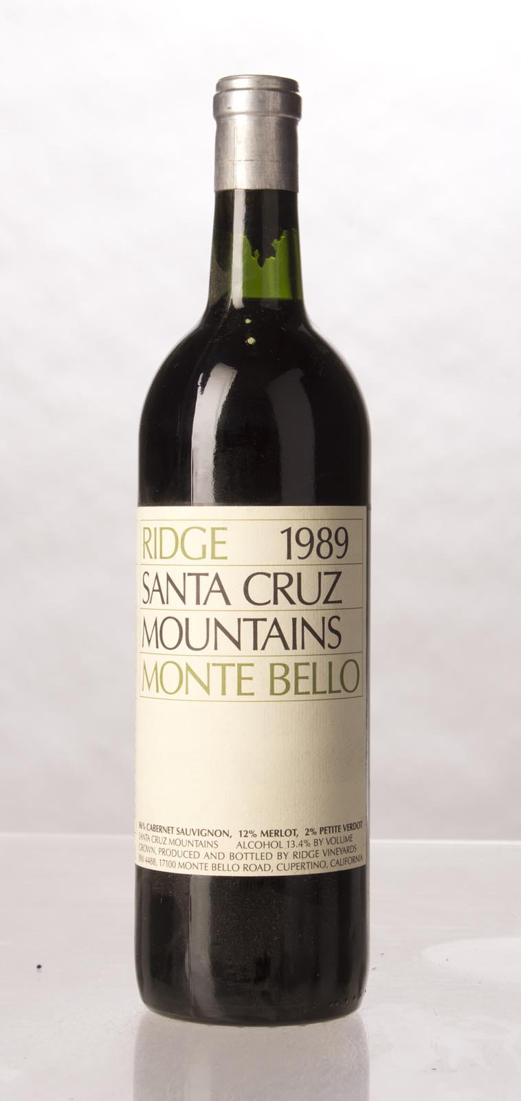 Ridge Monte Bello 1989, 750mL (WS92) from The BPW - Merchants of rare and fine wines.