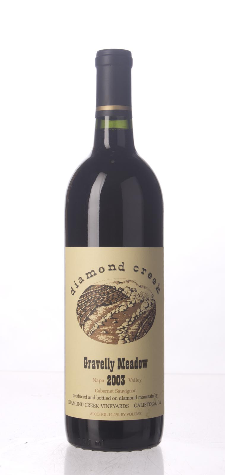 Diamond Creek Cabernet Sauvignon Gravelly Meadow 2003, 750mL () from The BPW - Merchants of rare and fine wines.