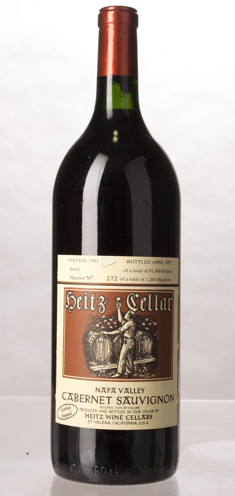 Heitz Cabernet Sauvignon Martha`s Vineyard 1991, 1.5L (WS93) from The BPW - Merchants of rare and fine wines.