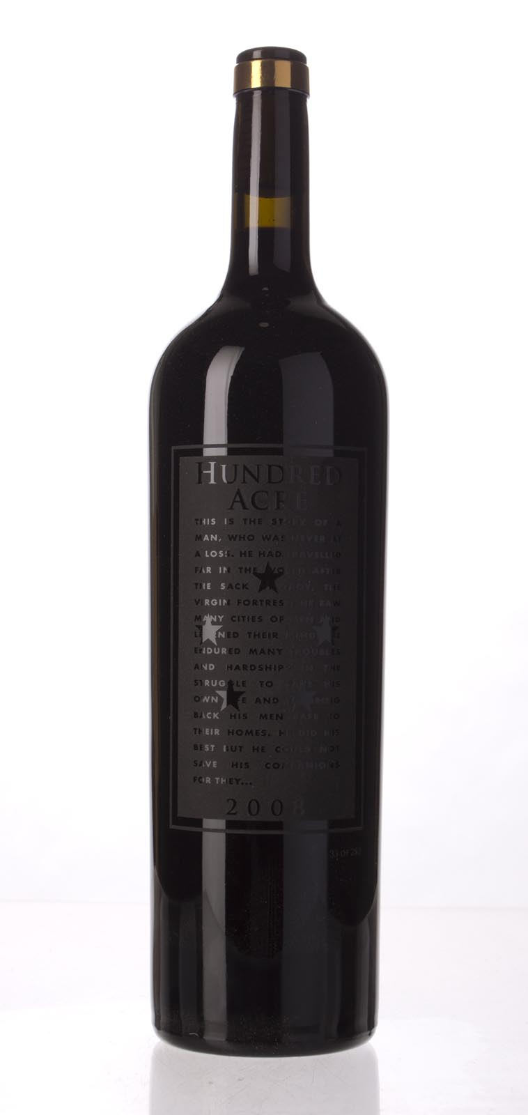 Hundred Acre Vineyard Cabernet Sauvignon Kayli Morgan Vineyard 2008, 1.5L (WA96+, ST96+, WS94) from The BPW - Merchants of rare and fine wines.