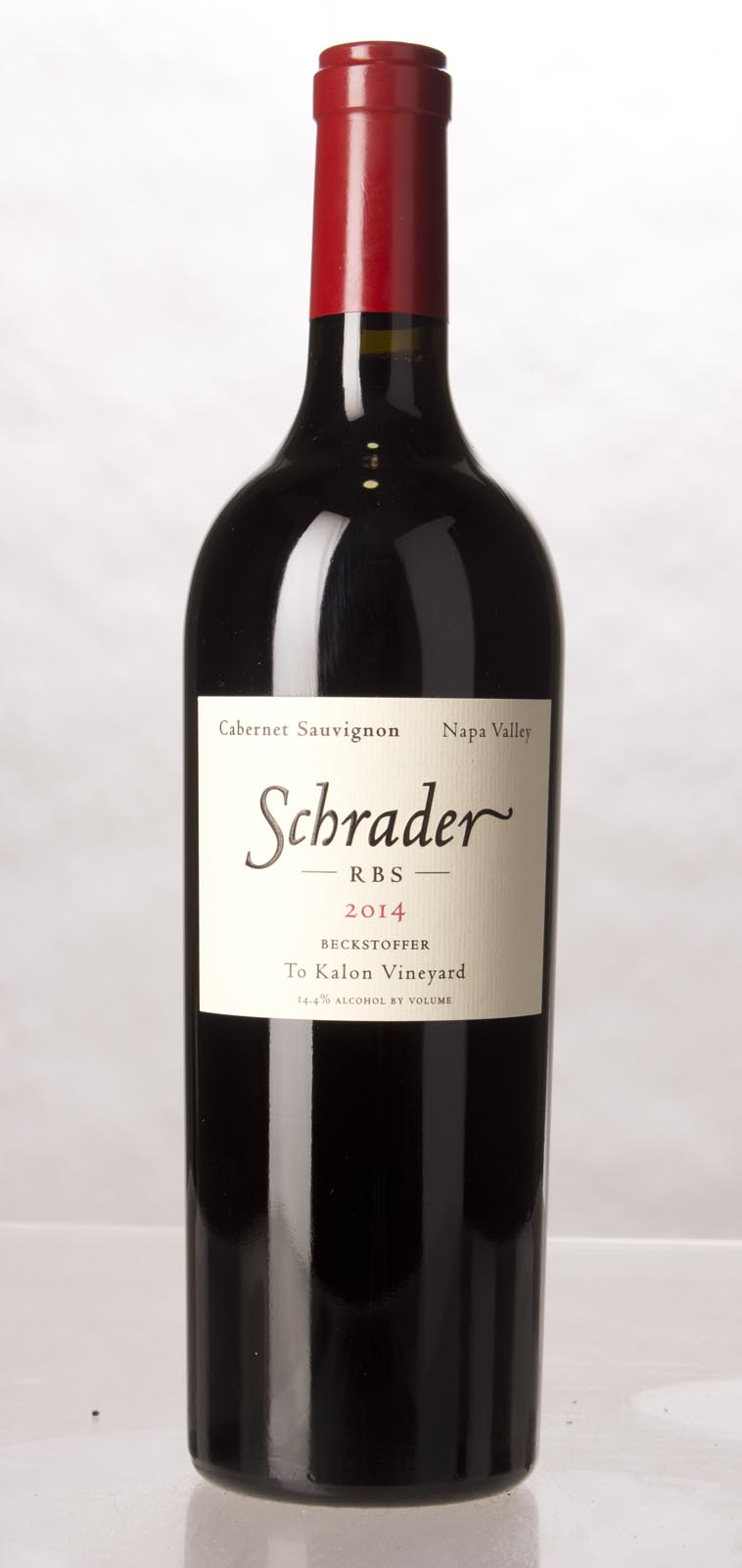 Schrader Cellars Cabernet Sauvignon Beckstoffer To Kalon Vineyard RBS 2014, 750mL (JS96) from The BPW - Merchants of rare and fine wines.