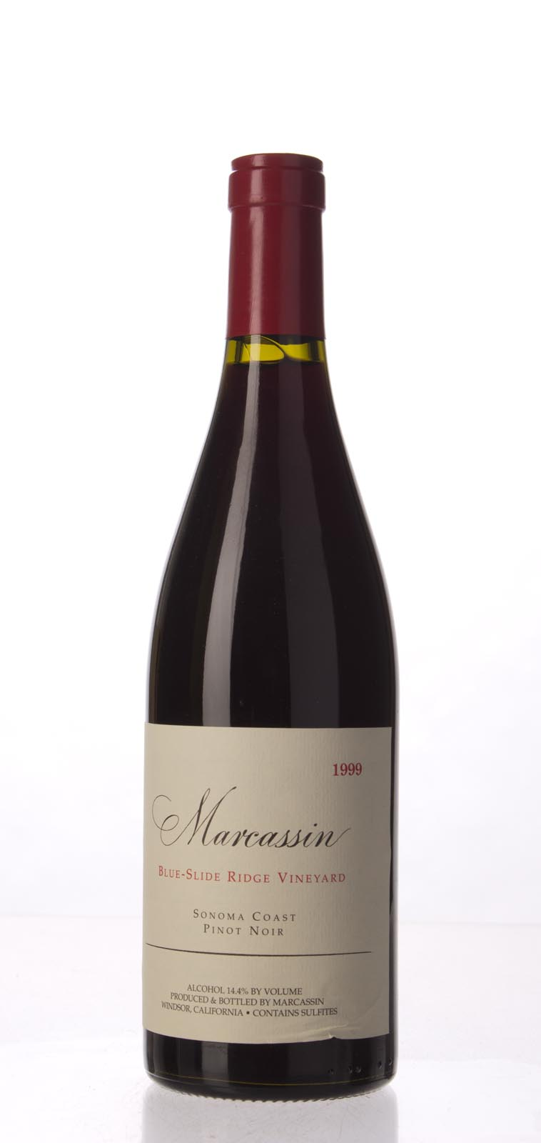 Marcassin Pinot Noir Blue Slide Ridge 1999,  (WA98) from The BPW - Merchants of rare and fine wines.