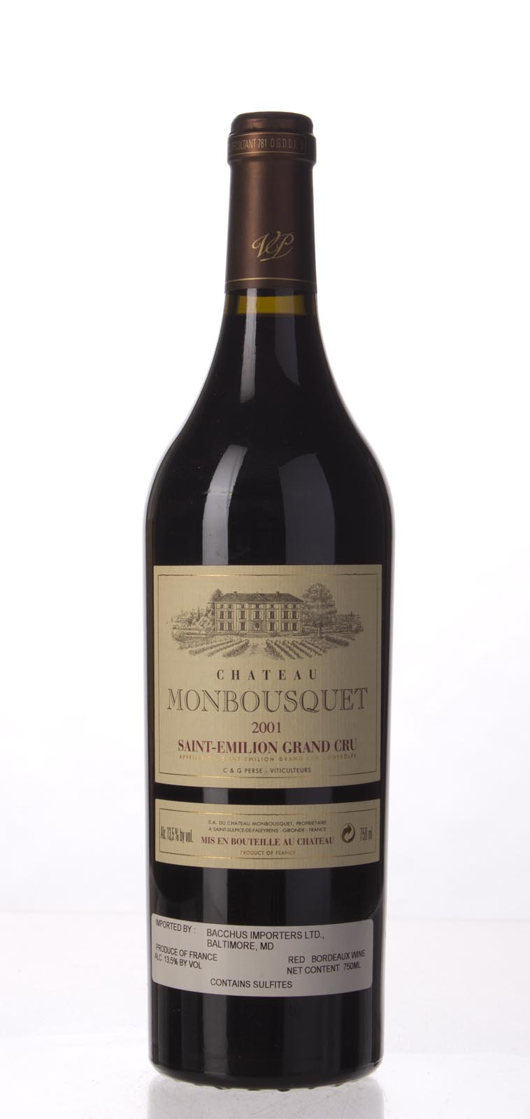 Monbousquet 2001, 750mL (WA91, ST91) from The BPW - Merchants of rare and fine wines.