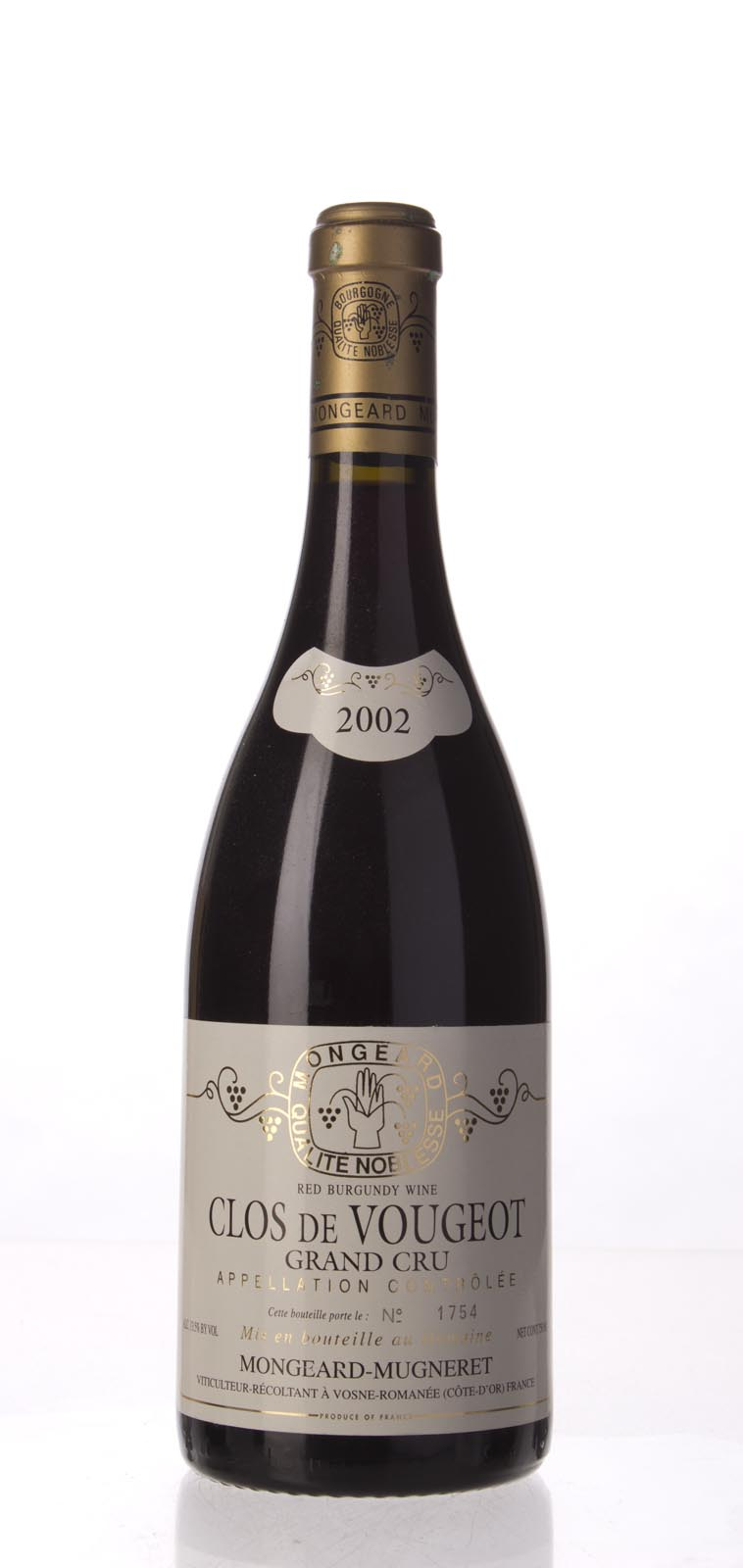 Mongeard Mugneret Clos Vougeot 2002,  (WS95) from The BPW - Merchants of rare and fine wines.