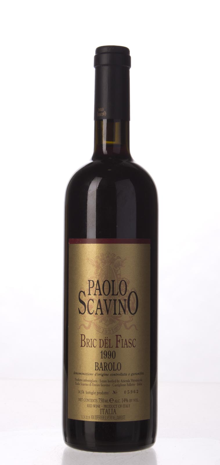 Paolo Scavino Barolo Bric del Fiasc 1990, 750mL (WA97) from The BPW - Merchants of rare and fine wines.