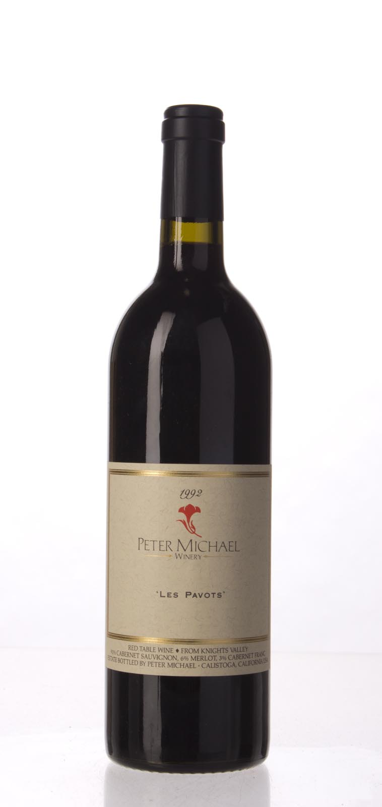 Peter Michael Winery Proprietary Red Les Pavots 1992, 750mL (WA91, WS92) from The BPW - Merchants of rare and fine wines.