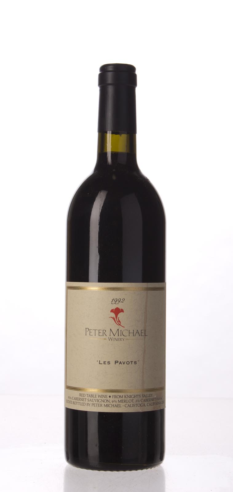 Peter Michael Winery Proprietary Red Les Pavots 1992,  (WA91, WS92) from The BPW - Merchants of rare and fine wines.