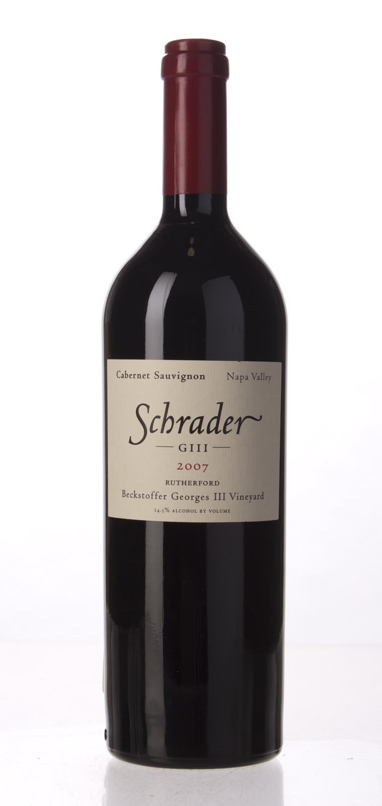 Schrader Cellars Cabernet Sauvignon Beckstoffer George III Vineyard 2007, 750mL (WA97+, WS96) from The BPW - Merchants of rare and fine wines.
