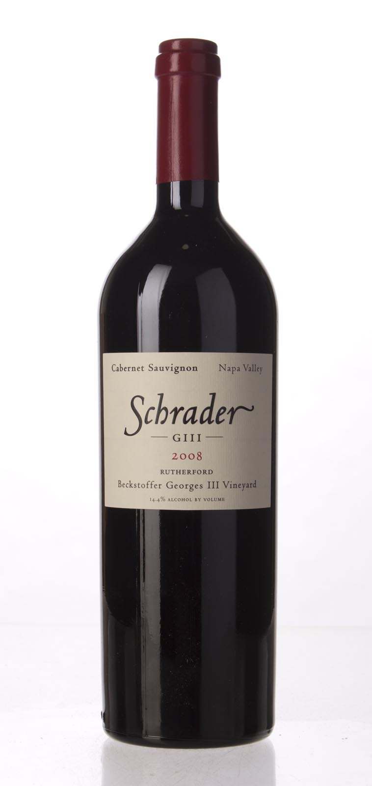 Schrader Cellars Cabernet Sauvignon Beckstoffer George III Vineyard 2008, 750mL (WA97, WS97) from The BPW - Merchants of rare and fine wines.
