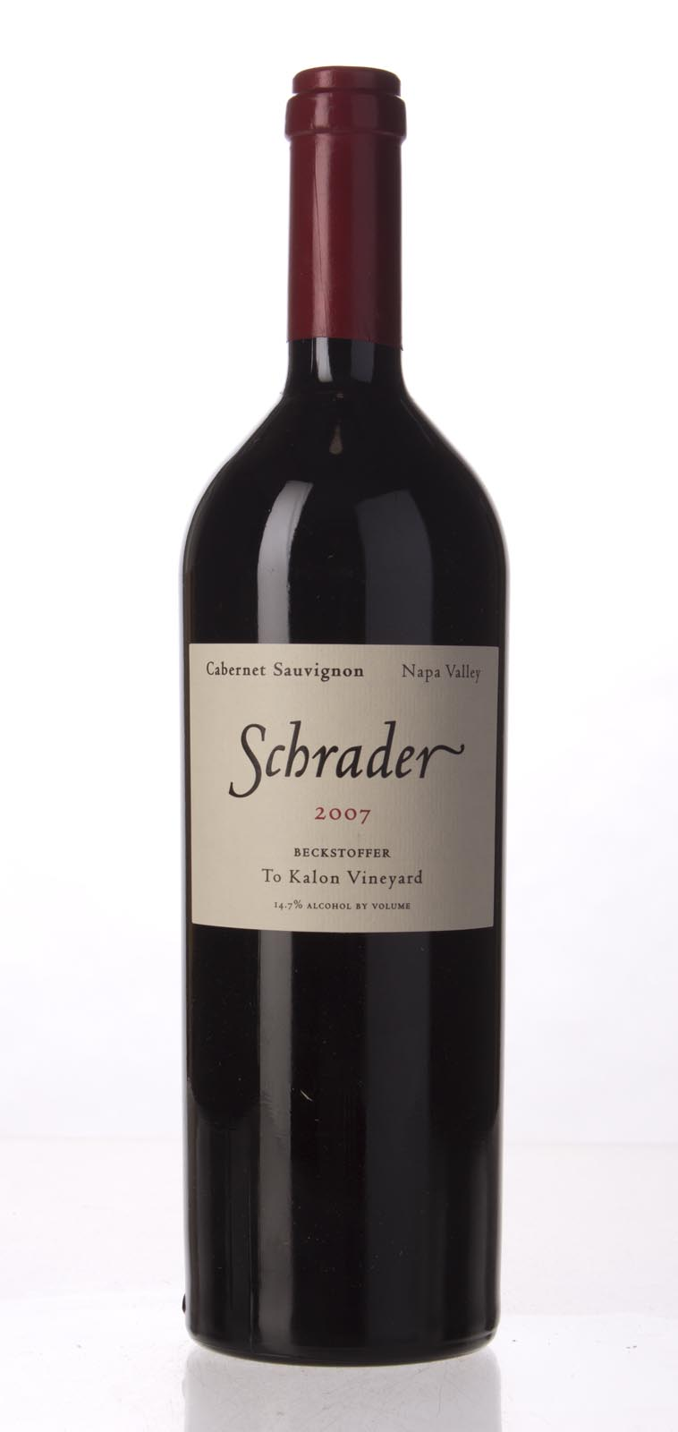 Schrader Cellars Cabernet Sauvignon Beckstoffer To Kalon Vineyard 2007, 750mL (WA96+, WS98) from The BPW - Merchants of rare and fine wines.