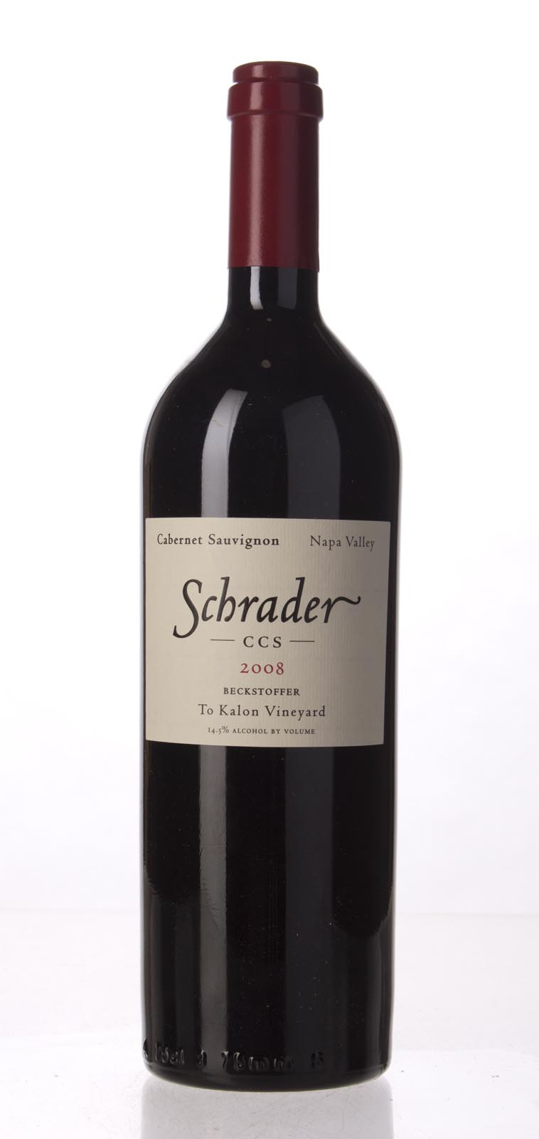 Schrader Cellars Cabernet Sauvignon Beckstoffer To Kalon Vineyard CCS 2008, 750mL (WA100) from The BPW - Merchants of rare and fine wines.