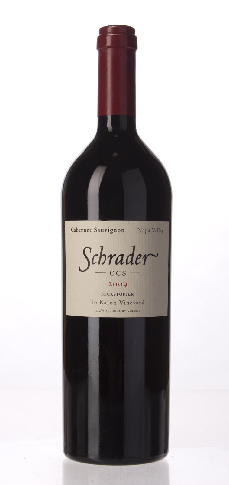 Schrader Cellars Cabernet Sauvignon Beckstoffer To Kalon Vineyard CCS 2009, 750mL (WA96+, WS95) from The BPW - Merchants of rare and fine wines.