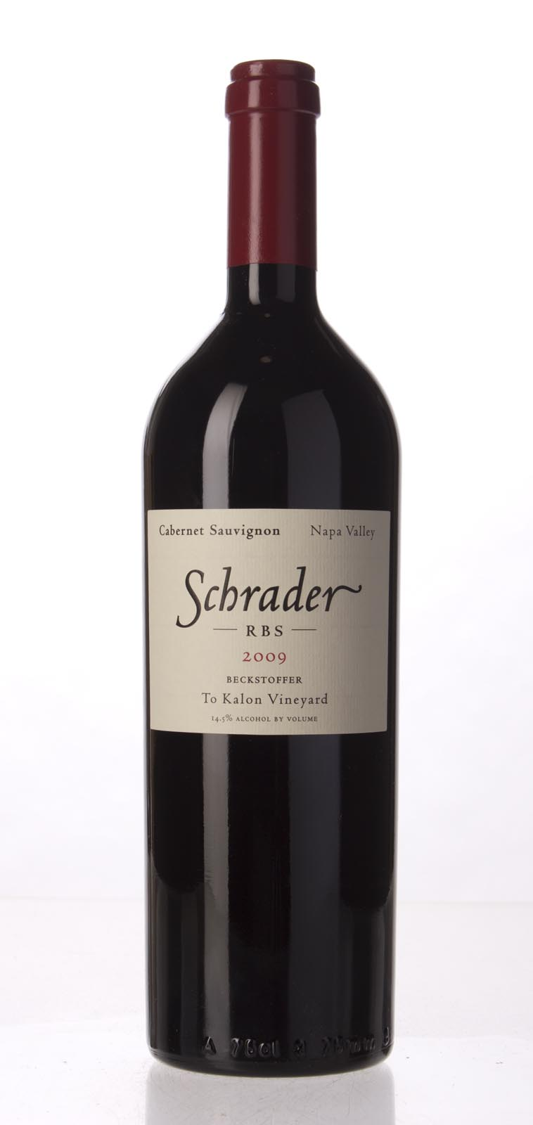 Schrader Cellars Cabernet Sauvignon Beckstoffer To Kalon Vineyard RBS 2009, 750mL (WA96, WS95) from The BPW - Merchants of rare and fine wines.