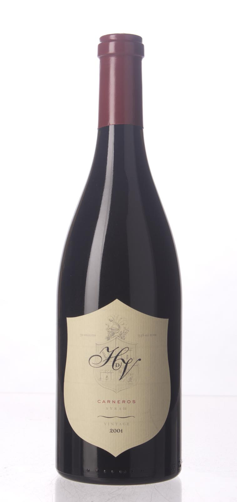 HdV Winery Syrah Carneros 2001, 750mL (WS92) from The BPW - Merchants of rare and fine wines.