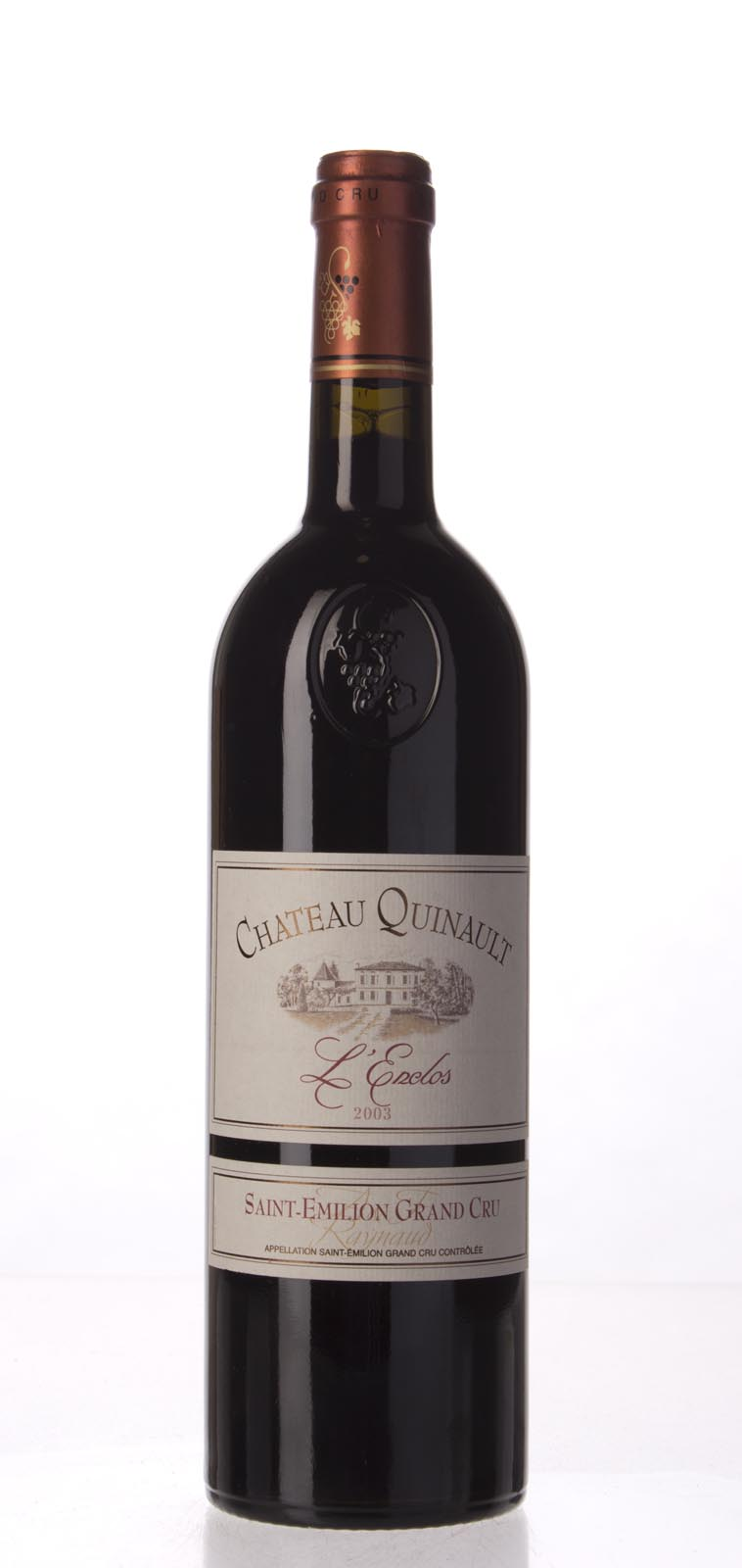 Quinault l`Enclos 2003, 750mL (WS90) from The BPW - Merchants of rare and fine wines.