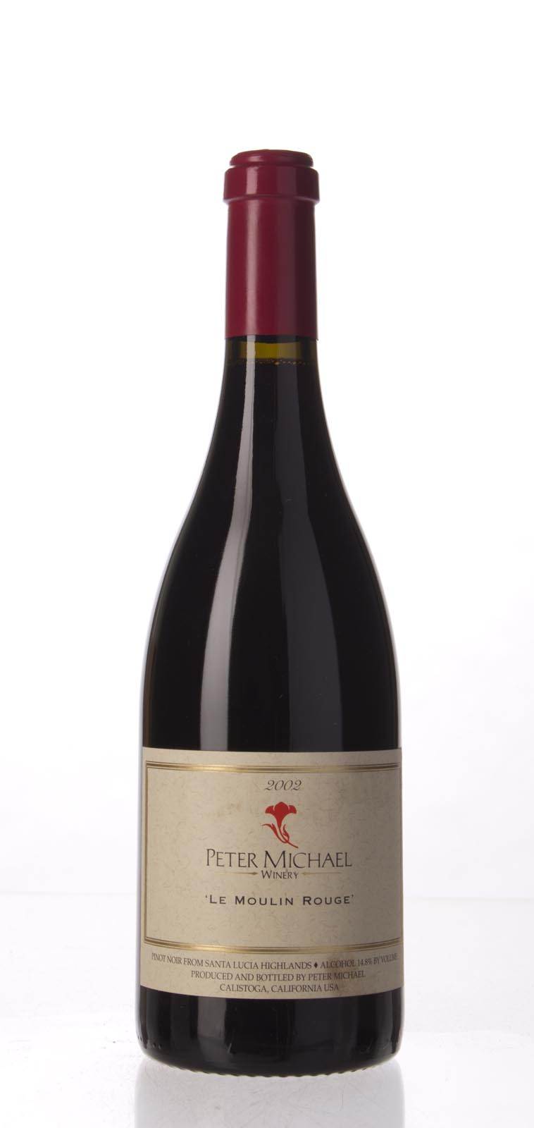 Peter Michael Winery Pinot Noir le Moulin Rouge 2002, 750mL (WA91, ST92) from The BPW - Merchants of rare and fine wines.