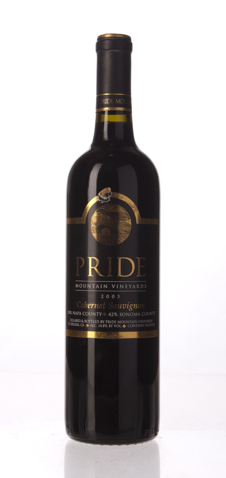 Pride Mountain Vineyards Cabernet Sauvignon 2005, 750mL (WA92) from The BPW - Merchants of rare and fine wines.