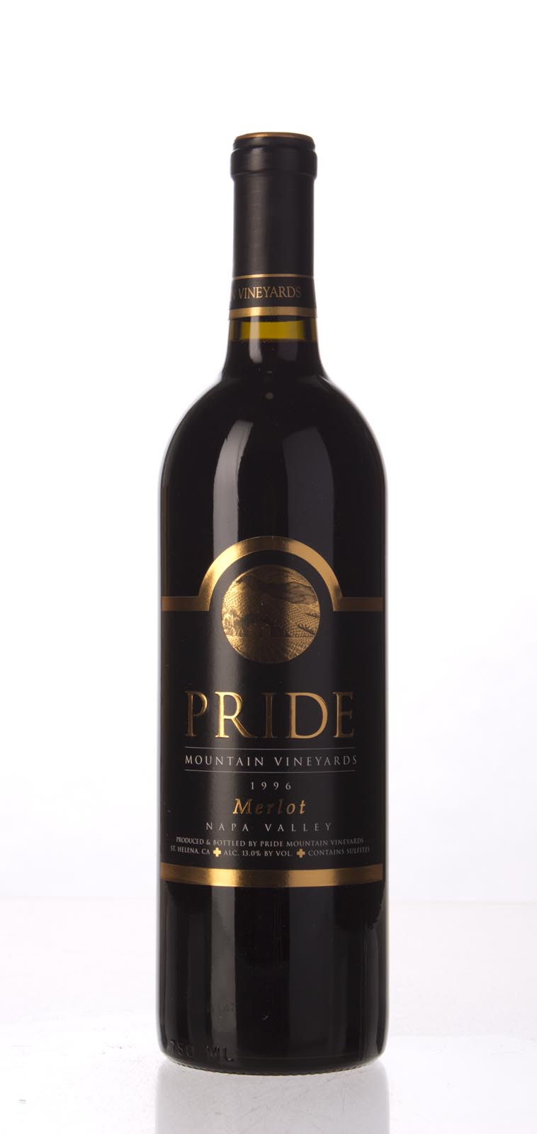 Pride Mountain Vineyards Merlot Napa/Sonoma 1996, 750mL (WA90) from The BPW - Merchants of rare and fine wines.