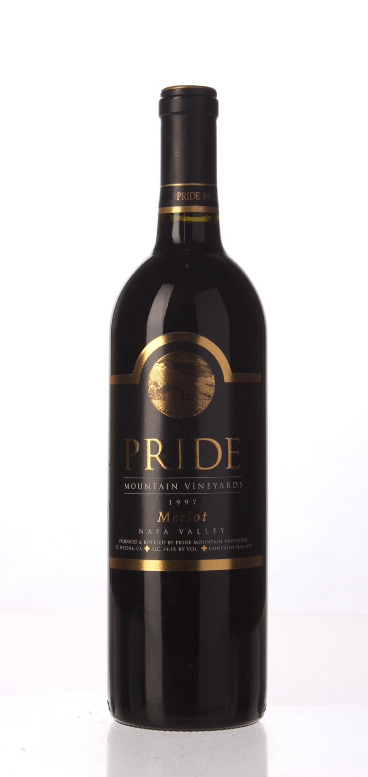 Pride Mountain Vineyards Merlot Napa/Sonoma 1997, 750mL (WA93, WS92) from The BPW - Merchants of rare and fine wines.