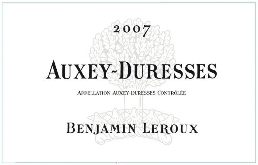 Benjamin Leroux Auxey Duresses Blanc 2010,  () from The BPW - Merchants of rare and fine wines.