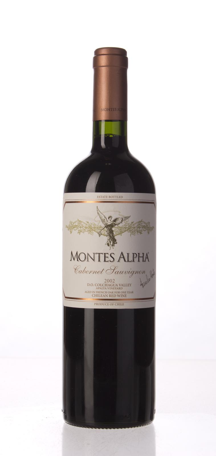 Montes Cabernet Sauvignon Alpha 2002, 750mL () from The BPW - Merchants of rare and fine wines.