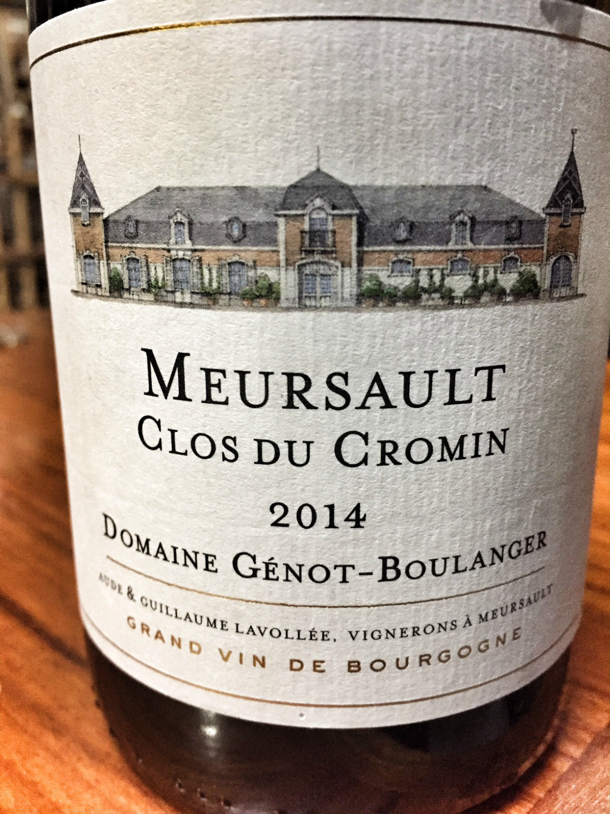 Chateau Genot Boulanger Meursault Clos du Cromin 2014,  (WS92) from The BPW - Merchants of rare and fine wines.