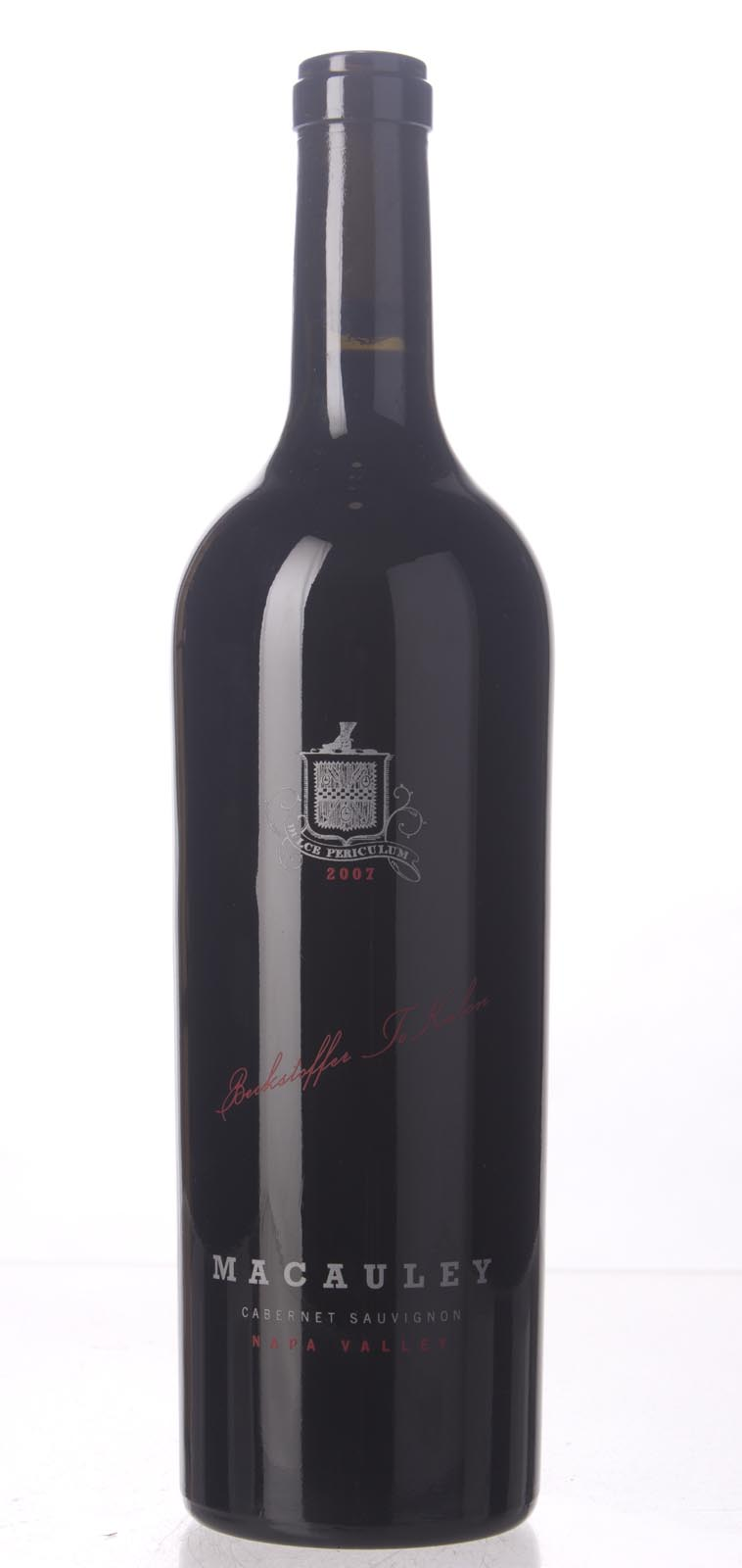 Macauley Cabernet Sauvignon Oakville Beckstoffer To Kalon 2007, 750mL (WA90-93, WS93) from The BPW - Merchants of rare and fine wines.