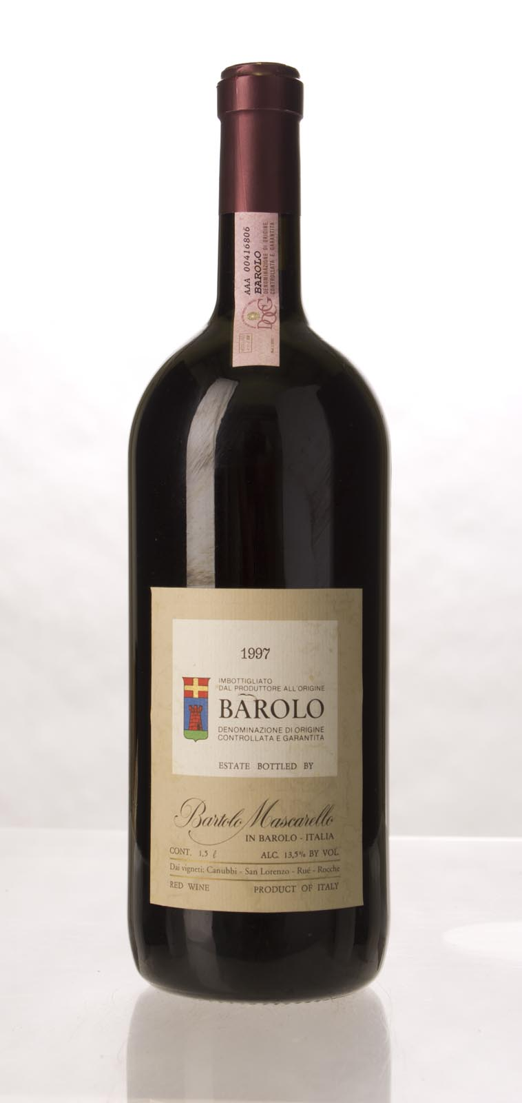 Bartolo Mascarello Barolo 1997, 1.5L (WA94) from The BPW - Merchants of rare and fine wines.