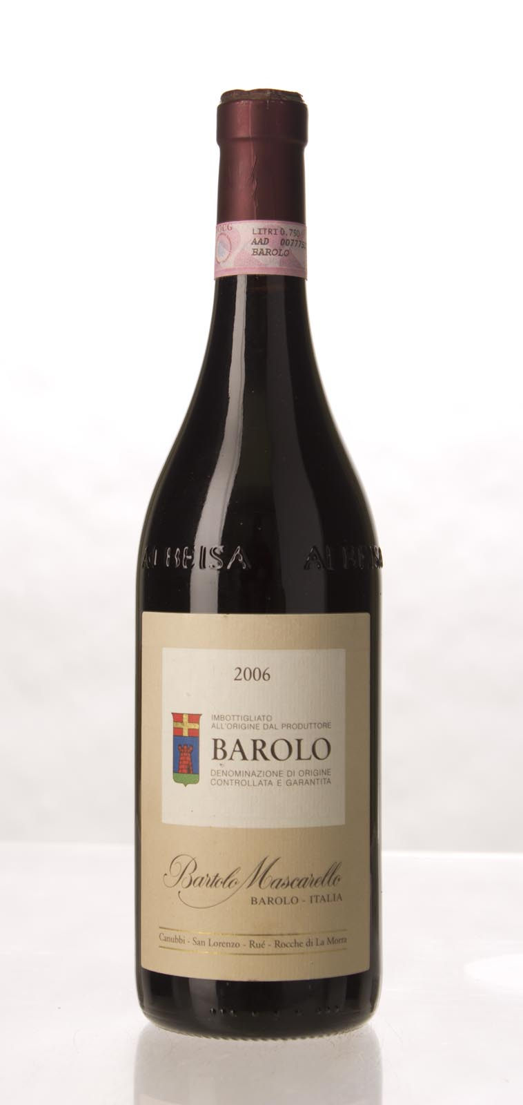 Bartolo Mascarello Barolo 2006, 750mL (WA96+, VN98, ST96) from The BPW - Merchants of rare and fine wines.