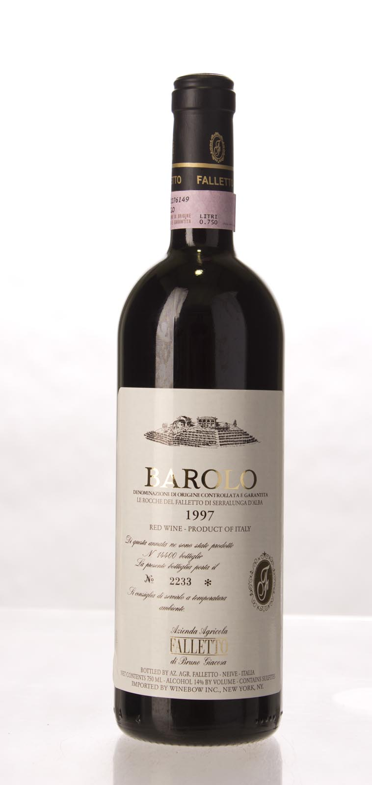Bruno Giacosa Barolo Rocche del Falletto 1997, 750mL (WA96, WS97) from The BPW - Merchants of rare and fine wines.